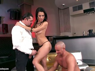 Brunette is one oral slut that gives guys beefy worm a try - BeFuck-com